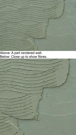 Part rendered wall